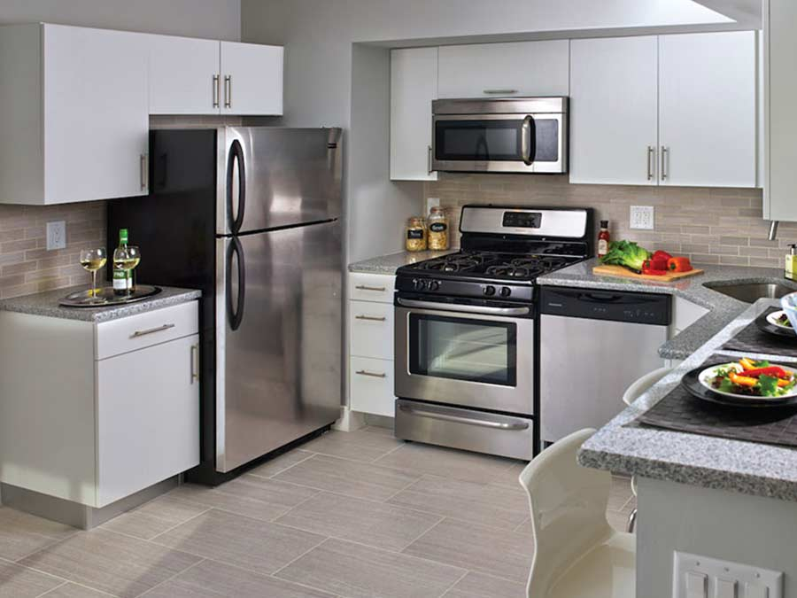 Westfield Apartments upgraded kitchens with stainless steel appliances