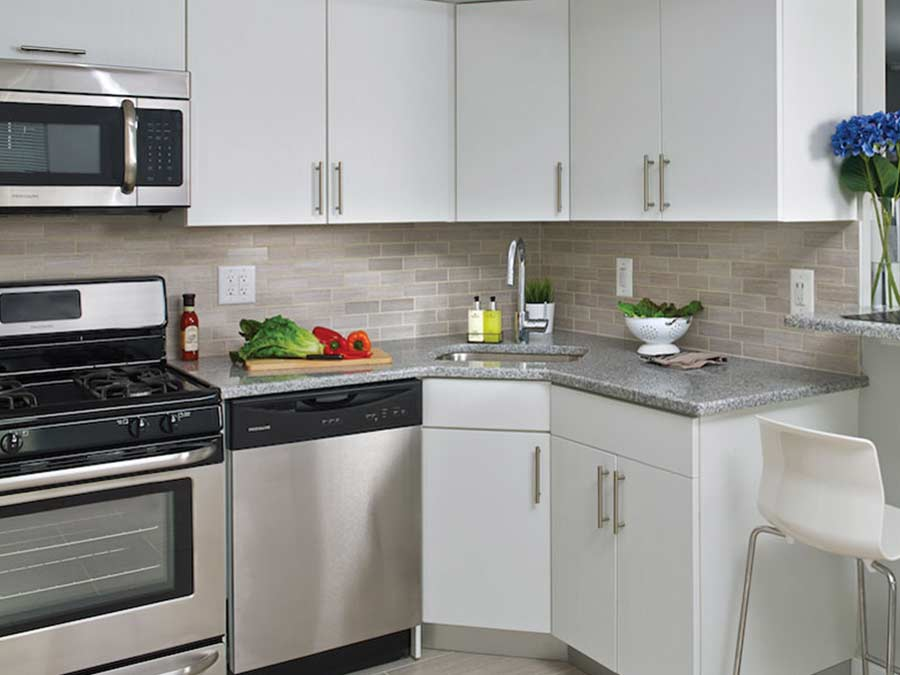 Westfield Apartments kitchens with stainless steel appliances