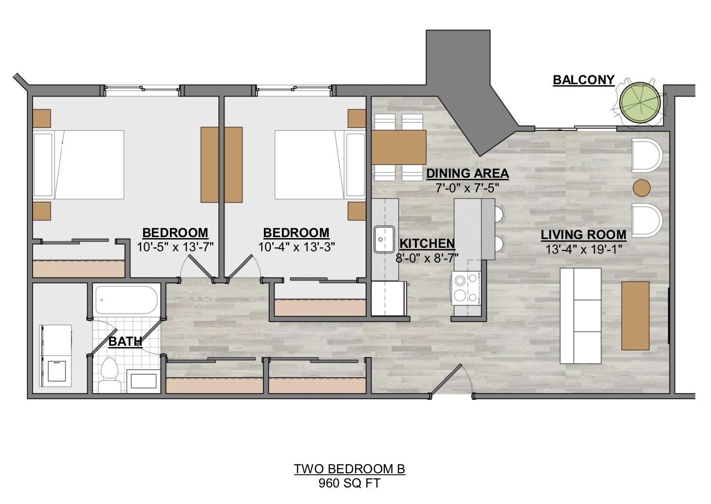 Algon Flats Two Bedroom B