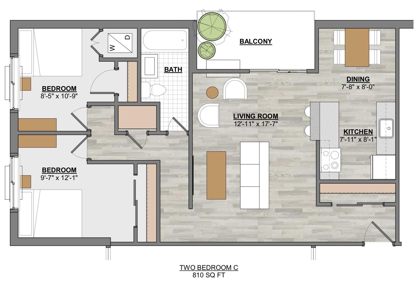 Algon Flats Two Bedroom C