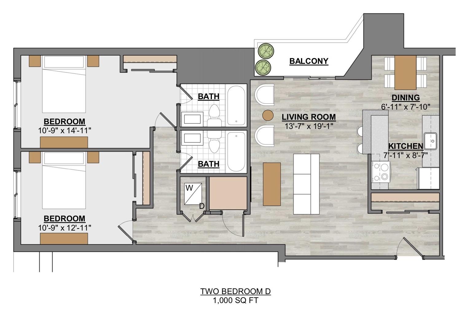 Algon Flats Two Bedroom D
