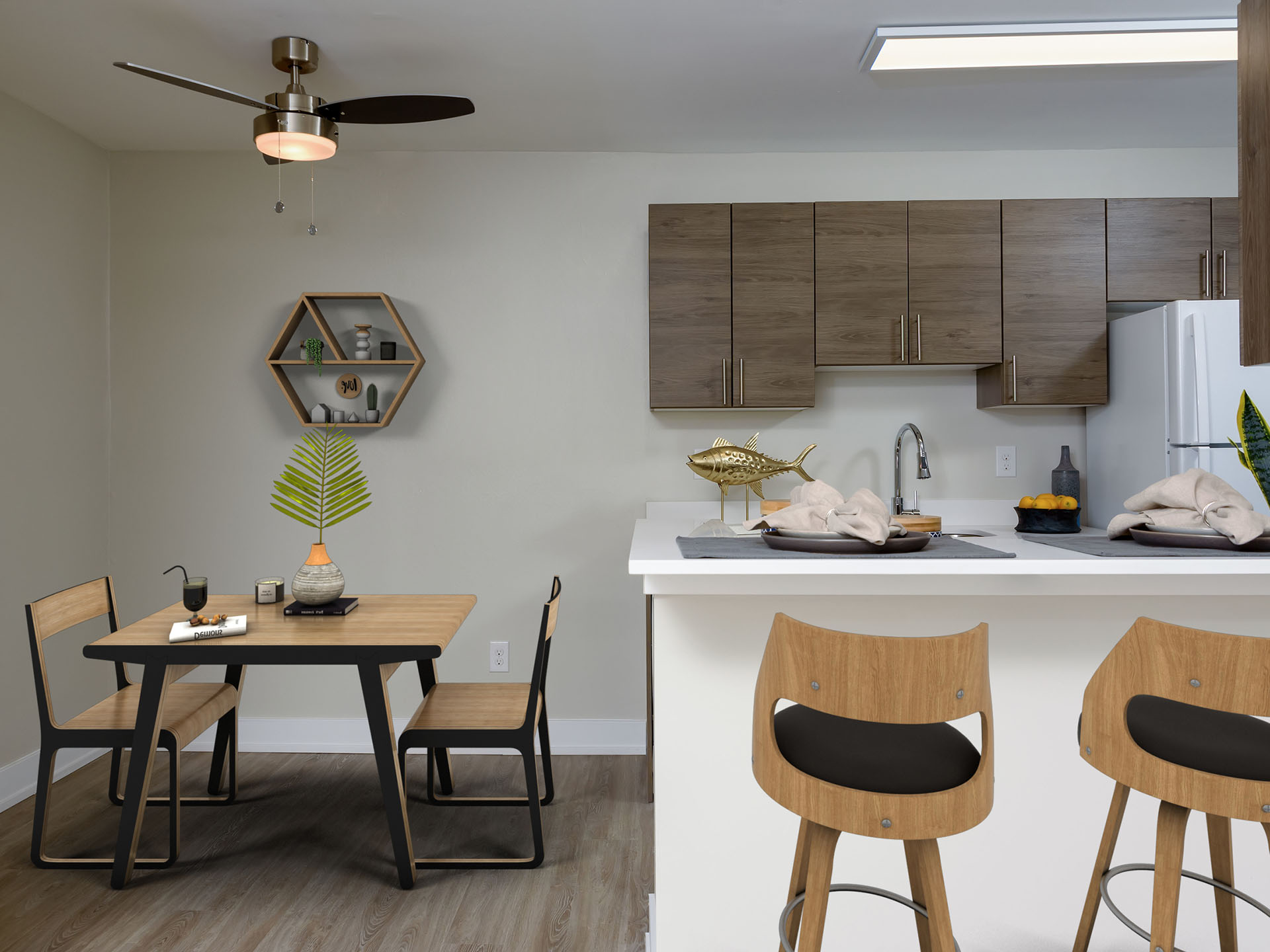 Lehigh Flats - Kitchen and Dining Space