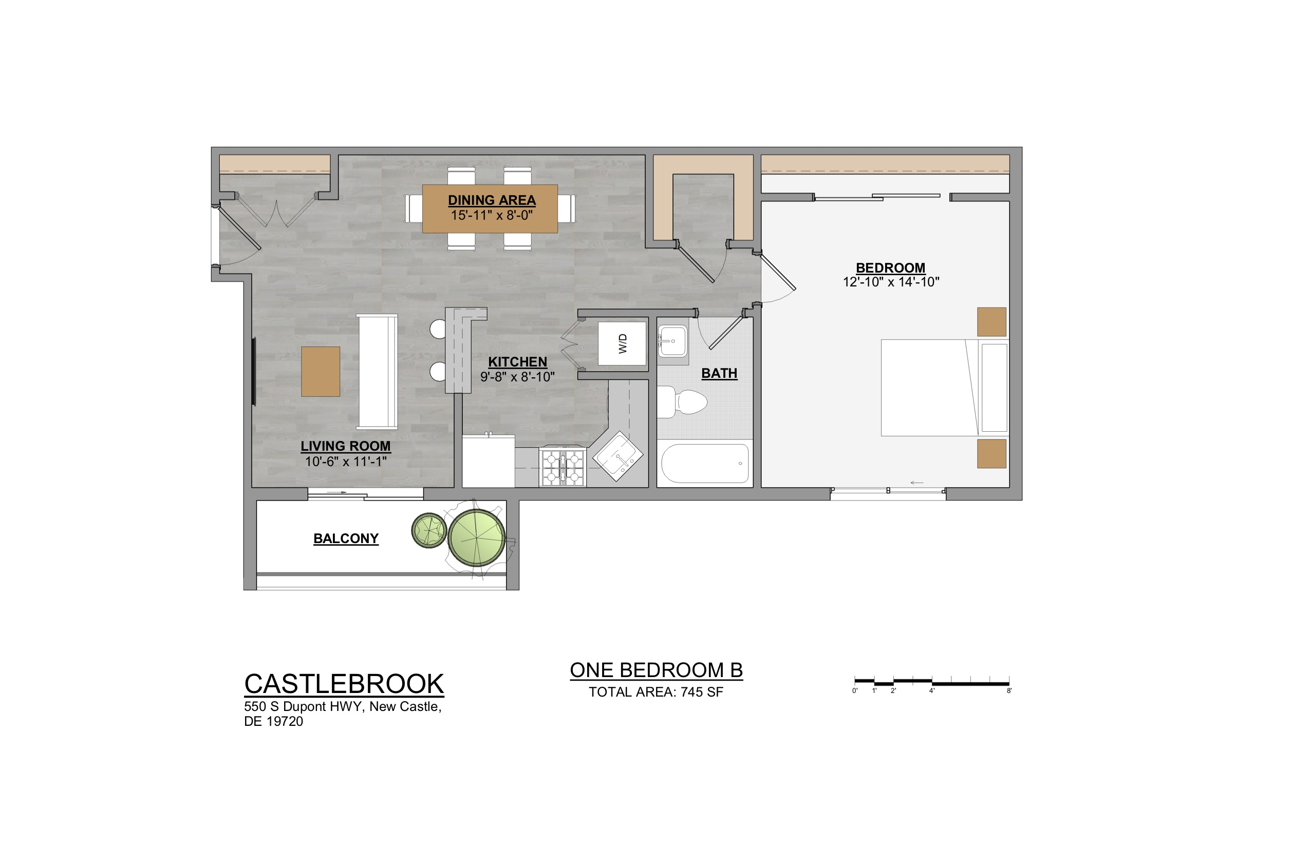 Castlebrook Apartments 1 Bedroom B