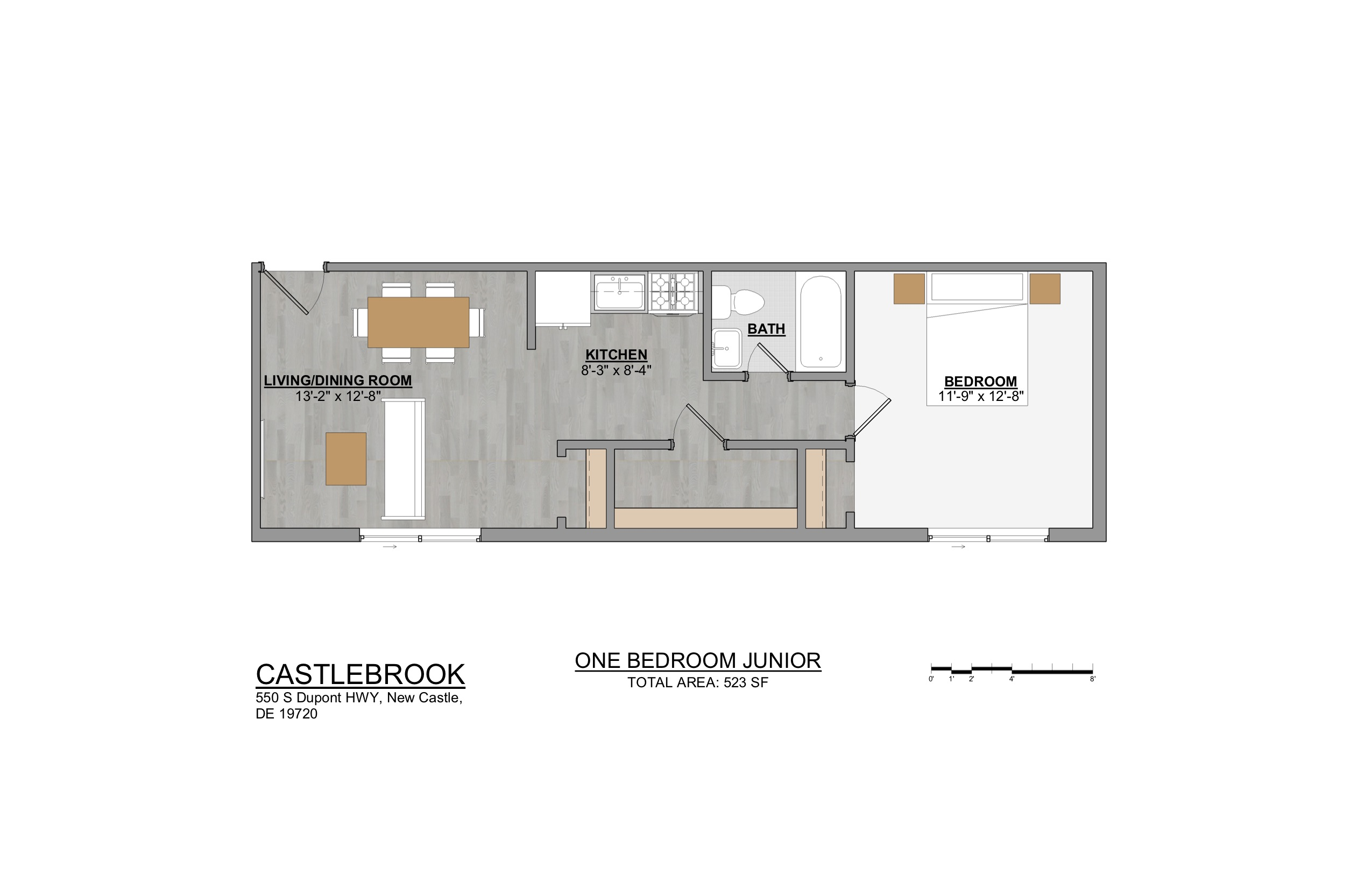 Castlebrook Apartments 1 Bedroom Junior